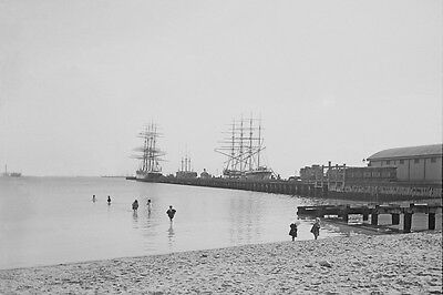 TOWN PIER Port Melbourne c1890-1900 modern digital Photo Postcard