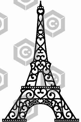 FILE CDR DXF EPS for Laser Cut or CNC ROUTER EIFFEL TOWER TORRE files archivos