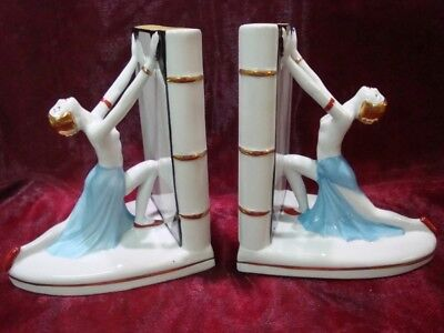 Bookends Figurine Bathing Beauty Sexy Art Deco Style Art Nouveau Style Porcelain
