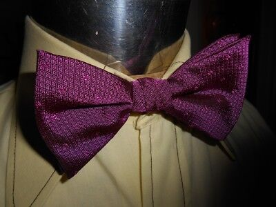 Vintage Purple Adjustable Pierre Cardin Polyester Bow Tie Steampunk Prom Formal
