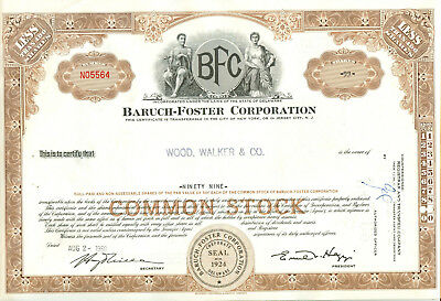 Baruch Foster Corporation 1960