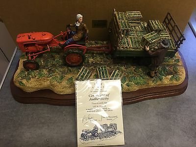 "BORDER FINE ARTS ""CUT AND CRATED"" ( Allis Chalmers Tractor) B0649 RAY AYRES"