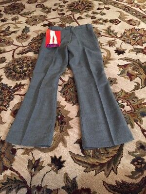 Vintage 1970's Child's BELL BOTTOM Polyester PANTS Gray Size 10 New NWT Made USA