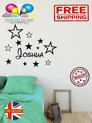 Personalised Disney Name Vinyl Wall Stickers Decor Decal Kids Room Girl or Boy