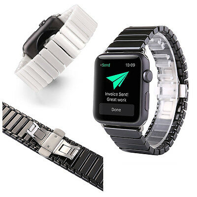 Ceramic Bracelet Stainless Steel Watch Strap Wrist Band For Apple Watch 38mm42mm