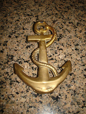 Antique Vintage Style Cast Brass Fouled Anchor Door Knocker