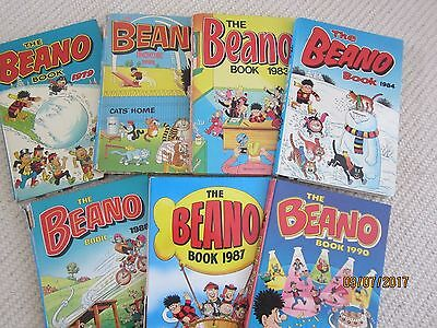 Beano Annuals Job Lot 1979, 1981, 1983, 1984, 1986, 1987 and  1990