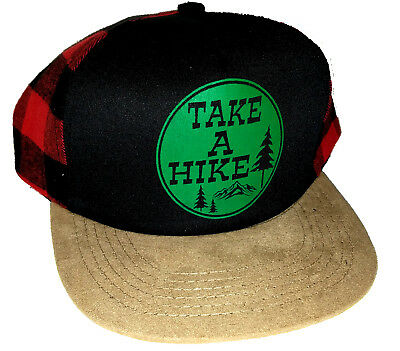 64852769f3f Kid s Take A Hike Plaid Buffalo Check Snapback Mesh Trucker Hat Cap Hiking