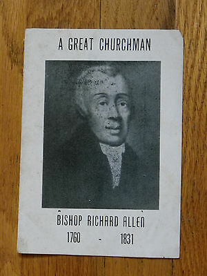 Vtg 4-Pg Brochure-Bishop Richard Allen-Early Black Leader-AME Church Founder