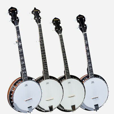New Heartland Banjo, 5 String Banjo & 4 String tenor Banjo,Tenor Banjo With Case