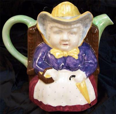 HJ Wood Mr and Mrs His and Hers Teapot Majolica Colors