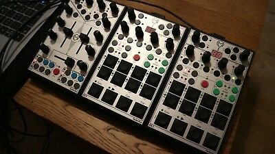 Faderfox Midi DJ controllers DJ3 and 2x DS3, used for Native Instruments Traktor