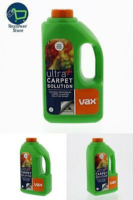 Vax Carpet Cleaner Carpets Shampoo Solution 1.5L New Ultra+ Stain Remover New