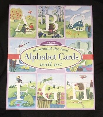 Alphabet Cards Wall Art eeBoo Melissa Sweet All Around the Land 26 8x10 cards