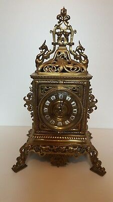 brass french table clock