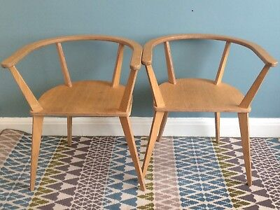 A Pair Of Unto This Last Oak Finish Plywood Chairs Design # Chair 40