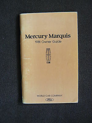 Mercury Marquis - US-Betriebsanleitung / Owner Guide / operation manual 1981