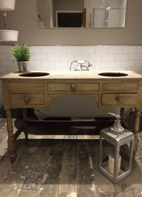Antique Pine Wash Basin Stand