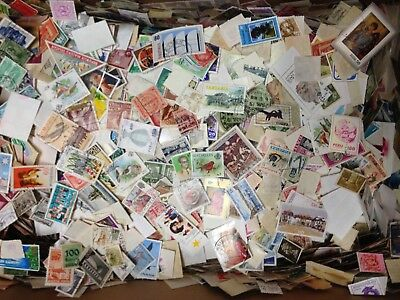 Wor21. World Off Paper (No Usa)! 100+ Stamps! Free Ship In Usa!!!