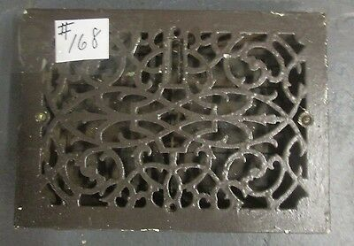 "VERY FANCY ANTIQUE 10"" x 14"" VICTORIAN CAST IRON REGISTER HYDE PARK ESTATE# 168"