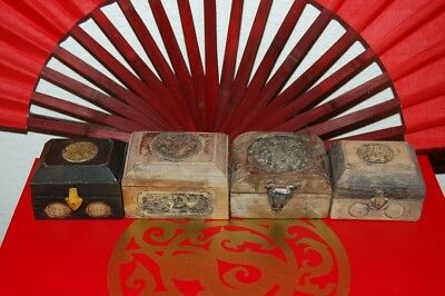Chinese Tabacco Boxes - Square Style - Stunning!
