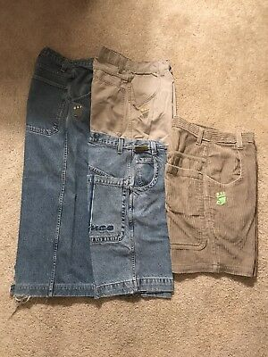 JNCO Jeans Lot Original Smoke Stacks Stinger Corduroy Shorts Clean! Skate Shirt