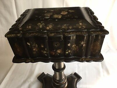 19th Century Victorian Gorgeous Papier Mache Sewing Table in Great Condition