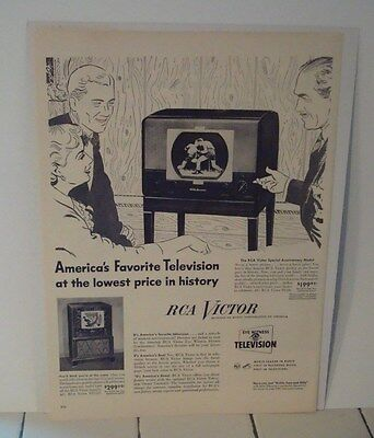 1949 RCA VICTOR TELEVISION ad advertisement