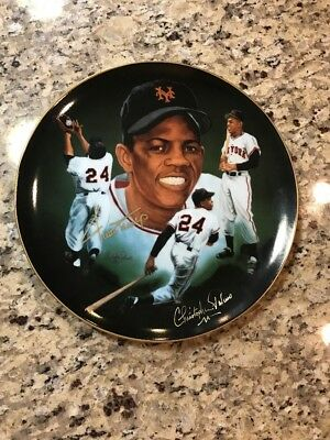 1985 Willie Mays Autographed Signed Christopher Paluso Plate 321/600