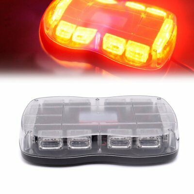 "36 LED 18"" Traffic Advisor Emergency Strobe Flash Warning Light Bar Kit YELLOW"