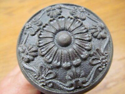 4 Old 1800's Cast Iron ?? Door Knobs...nice Ornate Old Knobs