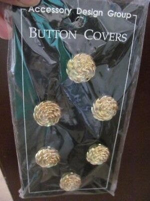 Vintage Button Covers Clasps Glamorous Goldtone Clothing Accessories