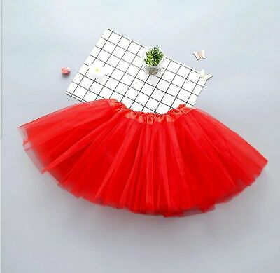 Girls Kids Tutu Party Ballet Dance Wear Dress Skirt Pettiskirt Costume 2-7 Y