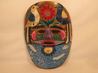 Vintage Hand Painted Ceramic Face Mask