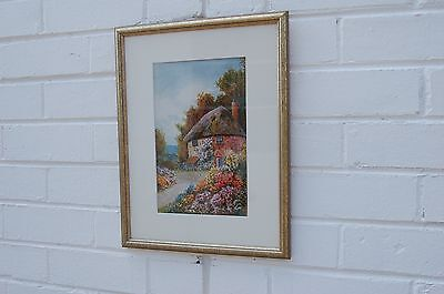 Antique mounted & framed Vernon Wood watercolour.