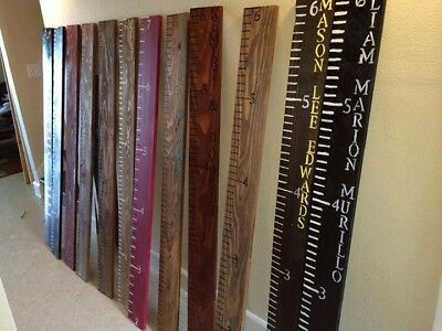 Keepsake Rulers 300+ Sold! **10+ Styles** Life-size Wooden growth chart rulers