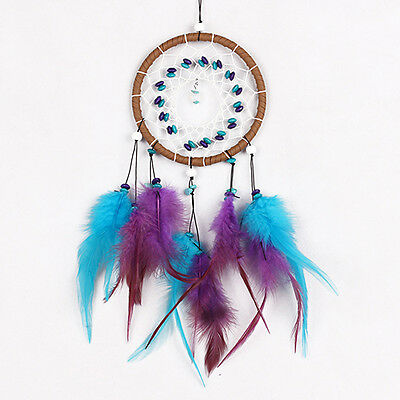 AS_ Woven Feather Tassel Dream Catcher Car Wall Hanging Decoration Craft Seraphi