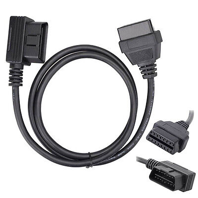 AS_ 1m OBD2 16Pin Male to Female Cable ELM327 Diagnostic Extender Cable Nifty
