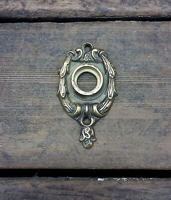 VTG Antique ORNATE Fancy Swag Cast BRASS Door Knob ROSETTE Backplate Cover