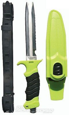 New Land And Sea Big Buddy Ii Abalone Dive Knife And Sheath -420 Stainless Steel
