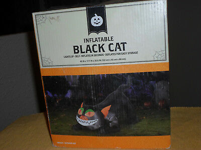 Halloween 4 FT Lighted Black Cat Airblown Inflatable
