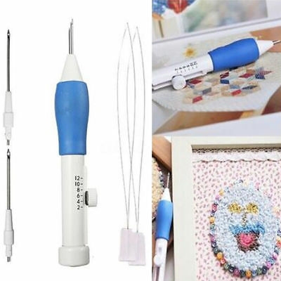 1Set Plastic DIY Magic Clothing Embroidery Pen 1.3mm 1.6mm 2.2mm Punch Needle