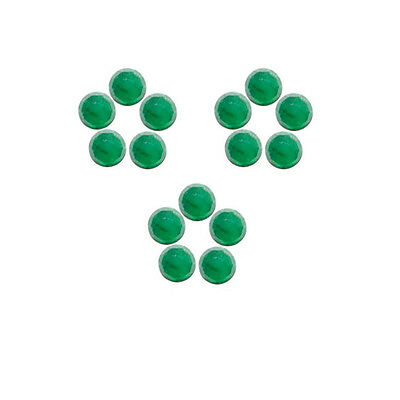6x6mm 15pc Rose Cut Faceted Cabochon Natural Green Emerald Loose Gems