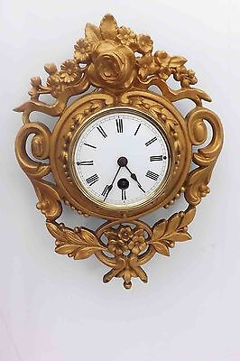 French Cartel Clock bronze and gilt cased
