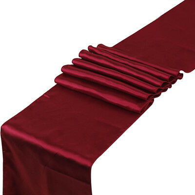 "1 x Satin Table Runner 30 x 275 cm Wedding Party Banquet Venue Decor 12"" x 108"""