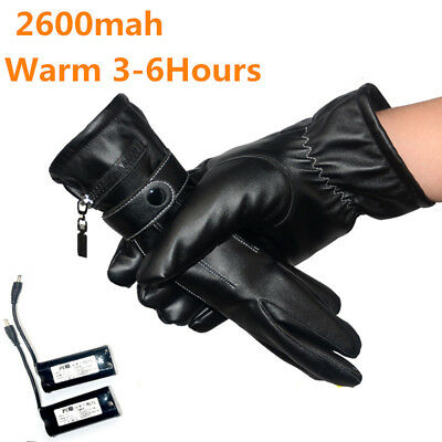 Battery Heated Gloves 2600MAH Rechargeable Self Heating Finger Black Hand Gloves