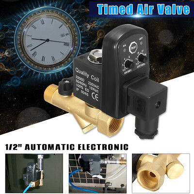 """AC 220V 1/2"""" Electronic Timed 2way Air Compressor Gas Tank Automatic Drain Valve"""