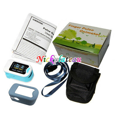 Heart Rate Monitor Blood Oxygen meter OLEDM 130b Silicone Case + Hanging Bag NEW