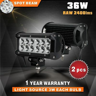 7Inch 36W Cree Led Work Light Bar 4800Lm Spot Beam 4X4 Offroad Lamp Suv Atv Ute