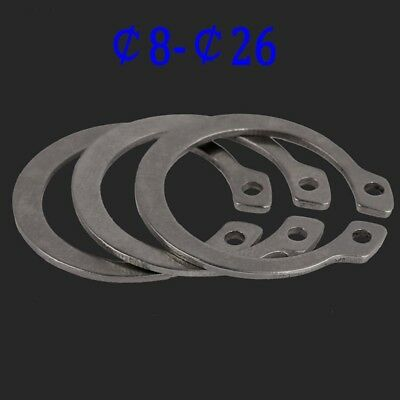 External Retaining Ring Circlip 304 A2 Stainless Steel Shaft Diameters 3-26mm